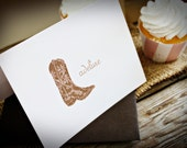 Cowgirl Personalized Folded Notecard