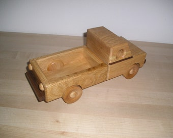 Wood Pickup Truck with a HANDRUBBED beeswax finish