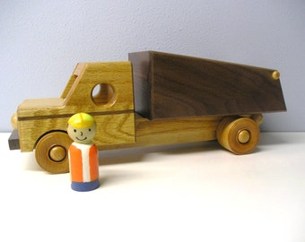 Dump truck with Hand Painted Driver and a Handrubbed beeswax finish.