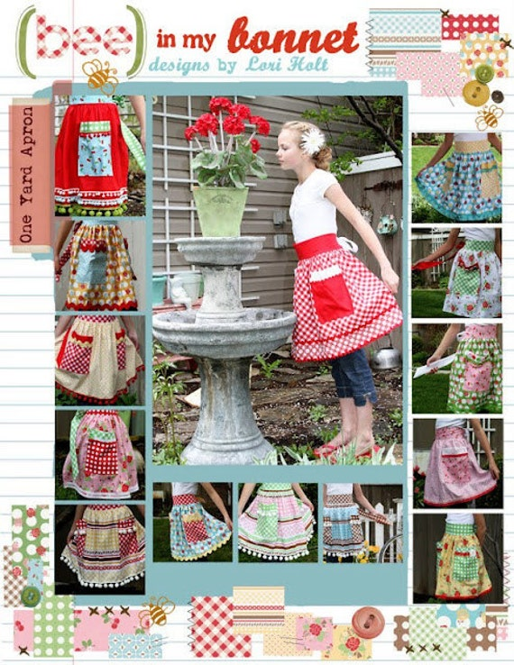 One Yard Apron Pattern from Bee in my Bonnet Try One of Each