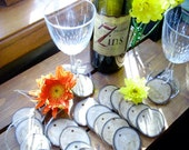 Wedding party wine glass charms-set of 20