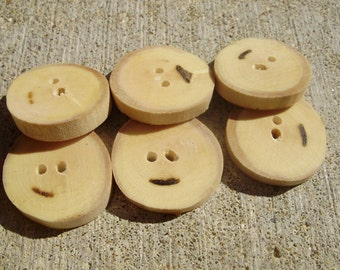 maple buttons-6 pcs.