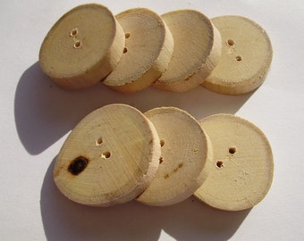 maple buttons-7 pcs.