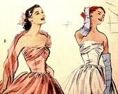 Butterick RETRO 1952 Evening Gown Dress Pattern Misses Size 14 16 18 20 UNCUT x
