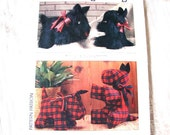 Simplicity 1980s Stuffed Vintage Scottie Dog Pattern