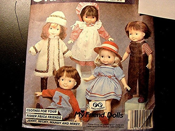 Vintage Mccalls Fisher Price My Friend Doll Clothes Pattern 16