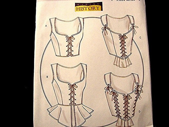 Historical Womens Sexy Lace up Corset Pattern Misses Sizes 6 8 10 12 UNCUT Victorian Goth Steampunk Civil War