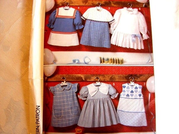 Vintage Simplicity Girls Dress Pattern with Sailor Collar plus others 6 styles size 5 UNCUT