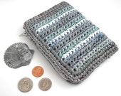 Eco-Friendly Zippered Coin Purse, of Recycled Plastic Bags, aka PLARN