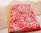 Set of 2 block printed A6 cards \/\/ Red Doilie