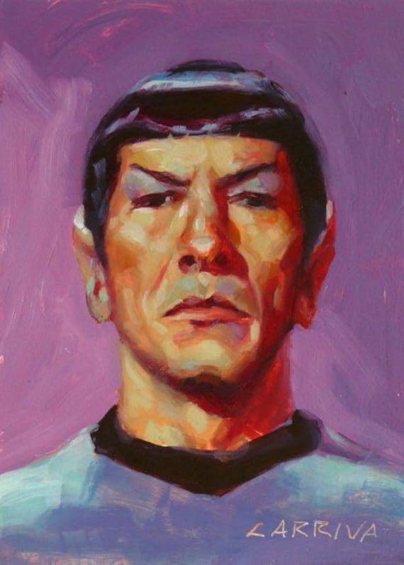First Officer Spock - Fine Art Print