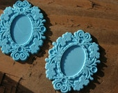 Vintage Cellulose Blue Pendants