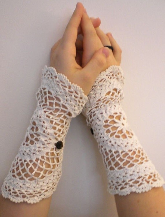 SALE - Catherine Bennet Wristlets - Recycled Doilies - was 16