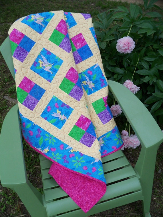 Colorful Tinkerbell Quilt LAST ONE