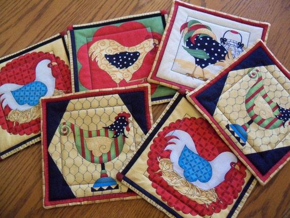 Retro Chicken Coasters