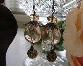 Vintage Champagne Whimsy Earrings by Ositarose
