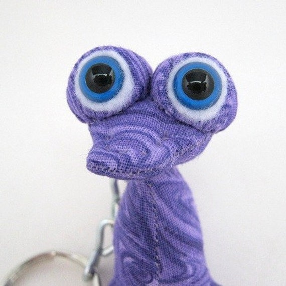 ON HOLD with Priority Shipping, Magenta, Adopt an Alien Pip Squeek Keychain, OOAK Creature Toy with Birth Certificate