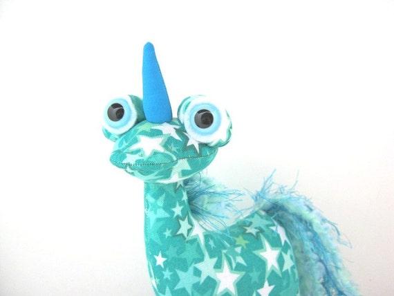 Unicorn Plush, Cute Alien Unicorn Fantasy Stuffed Monster by Adopt an Alien named Dreamy