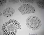 Mandala  Coloring Images on CD -101 Printable Images - Set 4