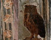 Reserved for Cindie:  Owl Medicine Original