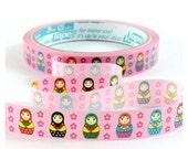pink Matryoshka Deco Tape Russian doll kawaii cute