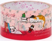 cute big pink cats Deco Tape in France