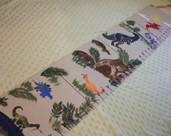 Foldable Children' s Growth Chart, Dinosaurs