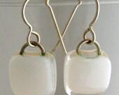 Classic White Simple Drop Earrings