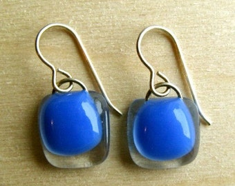 Deep Lake Blue Earrings