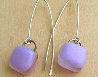 Long Drop Earrings - Neo-Lavender