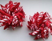 Set of Small Christmas Holiday  Korkers Red and Candy Cane Stripe