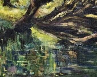 Summer Love 8x16 Original Oil Painting by Kathleen Farmer Denver artist