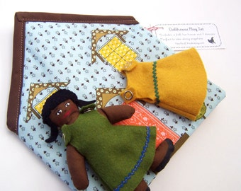 Take-Along Doll House Play Set-African American