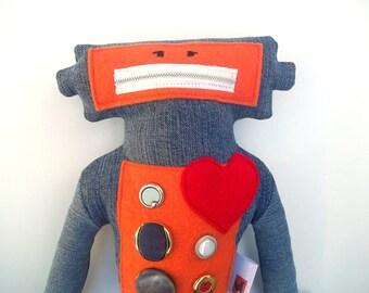Valentine Robot Plush Toy