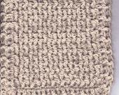 8-inch Organic Cotton Crocheted Washcloth