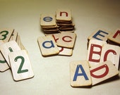 Mini Sandpaper Letters Set - Uppercase, Lowercase and Numbers 0-10 on Birch Wood