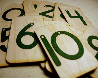 Mini Sandpaper Numbers 0-10