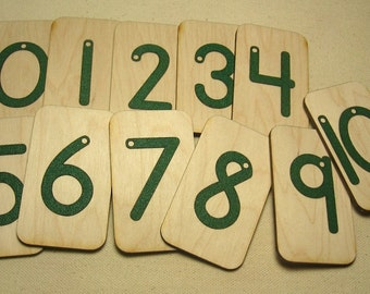 Mini Sandpaper Numbers 0-10 on brich wood