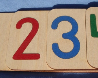 Sandpaper Number Placement Cards