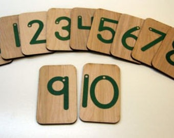 Sandpaper Numbers 0-10 mounted on birch