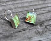 CITRUS. Lever-back dangle earrings. (Sterling Silver)