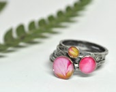 PETAL. Stacking Rings - Sterling Silver (set of 5). YOUR SIZE.
