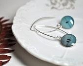 TRIO. Eclipse dangle earrings.    (Sterling Silver)