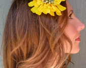 1/2 OFF SALE - sunshine yellow hair flower - Once Upon a Picnic