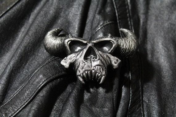 Danzig demon skull Pin (metal finish)