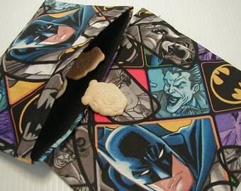 2pc Batman and Joker Reusable Sandwich and Snack Bag