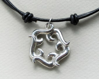 Crashing Waves Pendant in sterling silver
