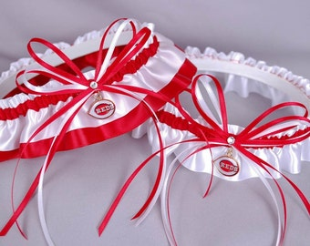 Cincinnati Reds Wedding Garter Set