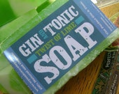 Gin and Tonic Soap with a Twist of Lime, 4 oz