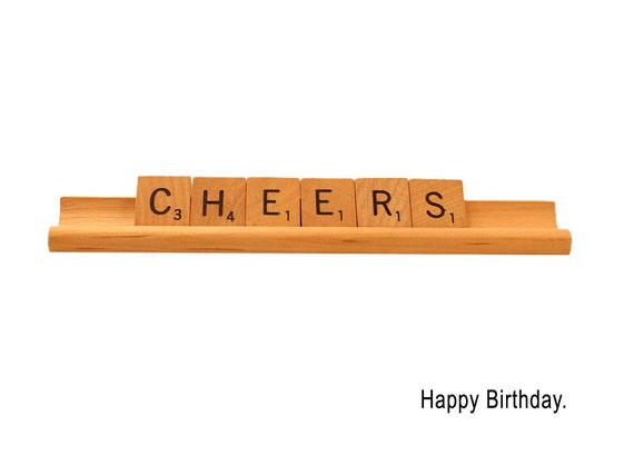 Happy Birthday Scrabble Card, Cheers, Scrabble Greeting Card, Birthday Card
